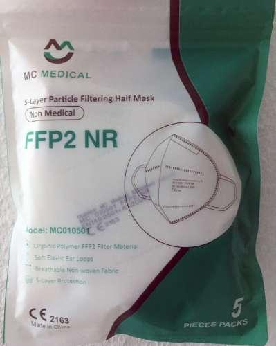 MC Medical FFP2 NR, 5er Pack Atemschutzmasken, CE2163